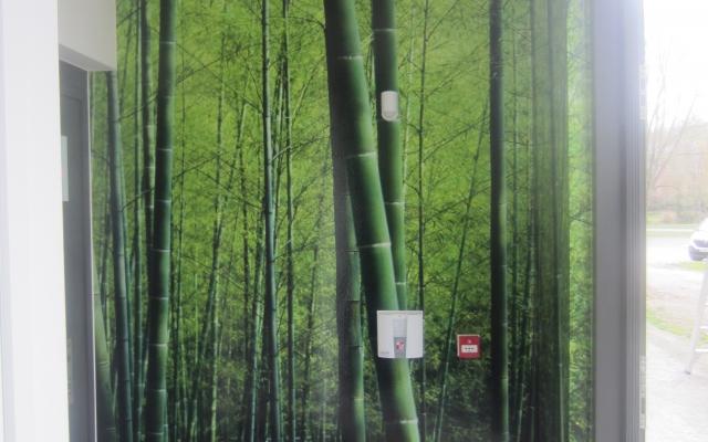 Bamboo muurprint
