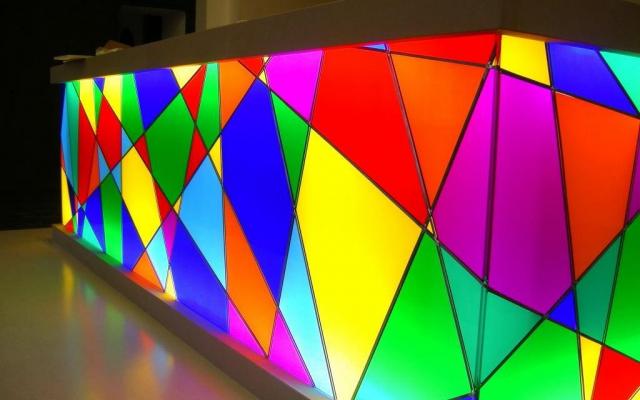 Transparante folie op glas