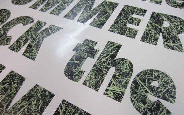 Printmotief in kleefletters
