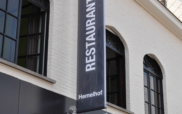 Restaurant Hemelhof gevelbanier