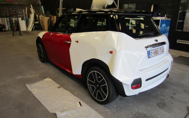 Oorspronkelijk rode auto