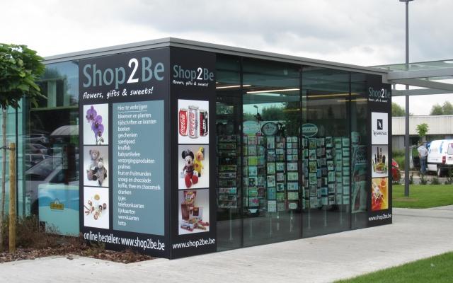 Twee hoeken van de shop in de kijker geplaatst